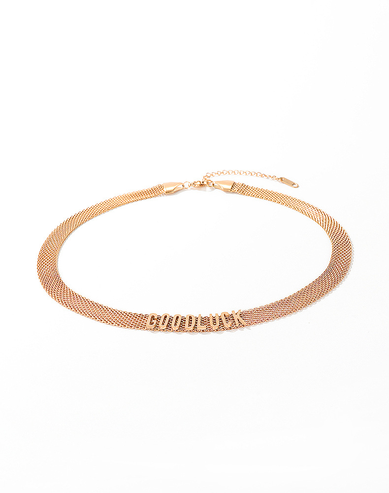 fashion new simple  letters titanium steel ladies necklace fashion wild clavicle chain nihaojewelry wholesale NHOP233117