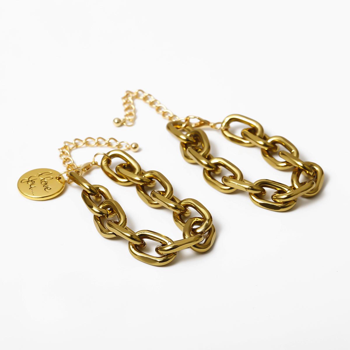New Fashion Hip Hop Style Letter Tag Set Chain Bracelet Wholesale NHXR204524