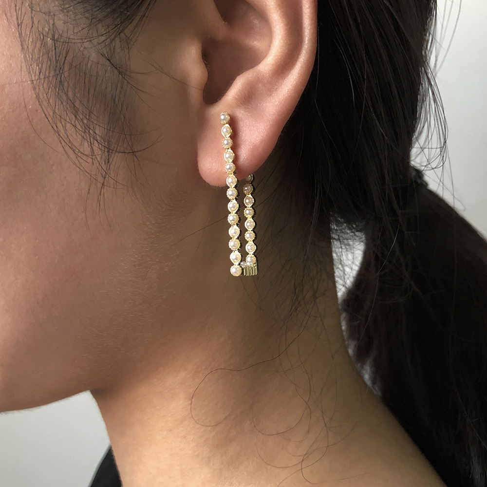 supply  geometric pearl creative earrings NHMD267867
