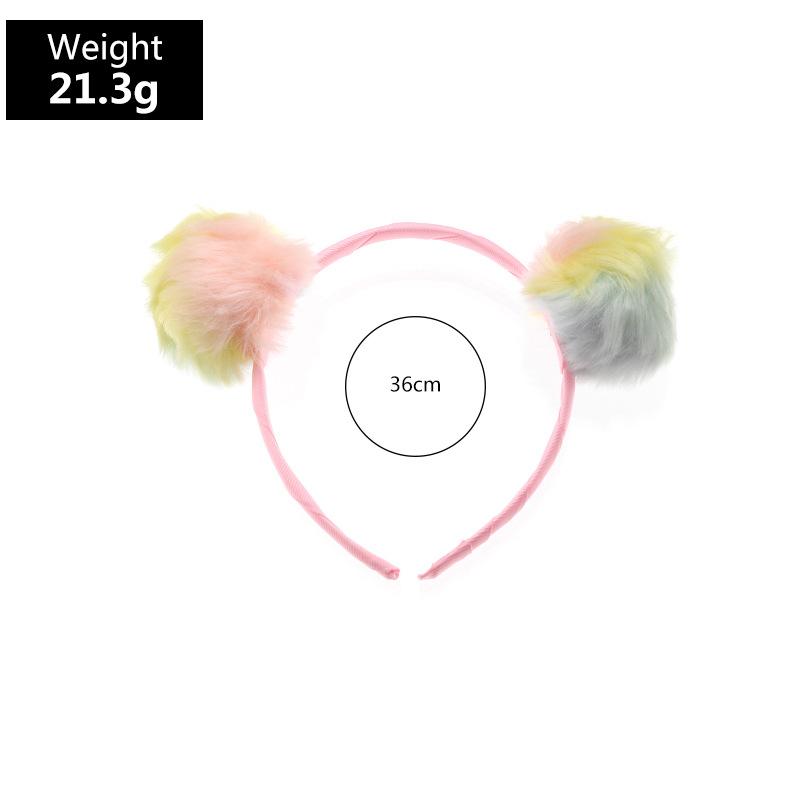 plush headband winter children cute colorful coat color girls hair accessories  NHNU296634