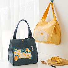 新款日食和风便当包 便捷手提帆布袋子定制大容量加厚保温饭盒袋