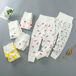 1 ребенок высокая талия брюки ребенок живот брюки хлопок на осень брюки 0-3 лет новорожденных брюки лето ребенок весна пижама 2