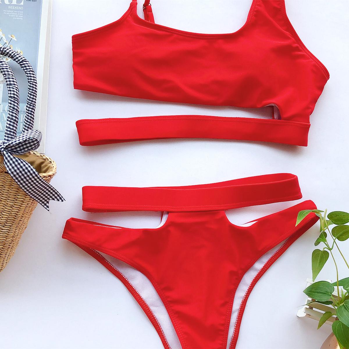 swimsuit new bikini ladies split swimsuit explosive swimwear bikini wholesale nihaojewelry NHDA219540