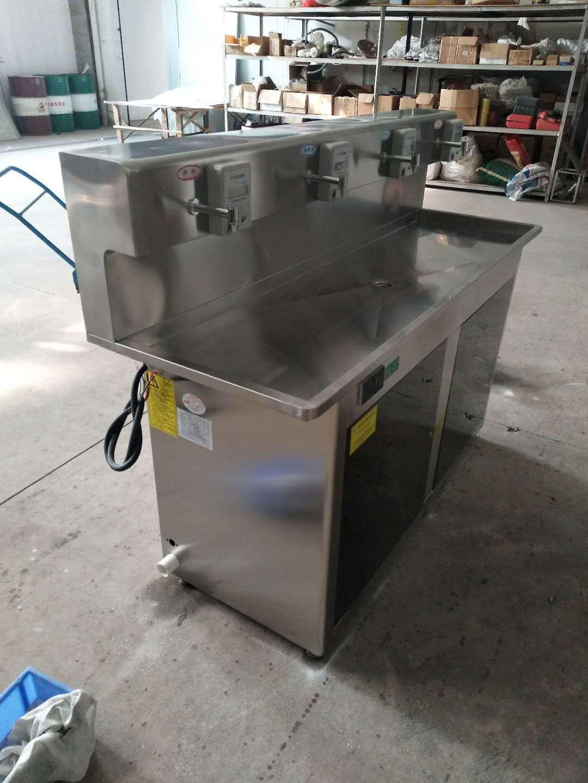 直销不锈钢IC卡饮水机 室内立式安装节能温热饮水平台