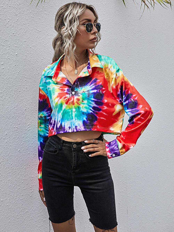 fashion casual ladies short open collar lapel long sleeve NSDF1983