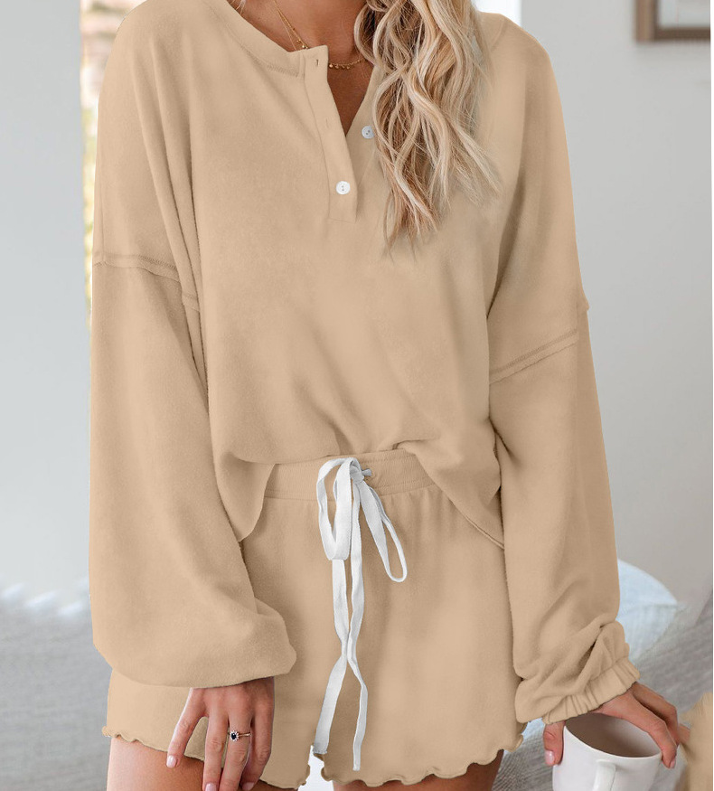Home Clothes Lovely Round Collar Pajamas Women