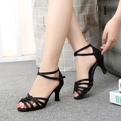 Female adult Latin dance shoes high heel soft sole dance shoes national standard women dance shoes