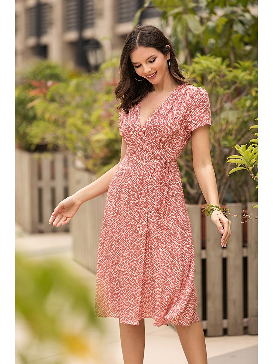 summer strap slim chiffon floral dress   NSAL2920