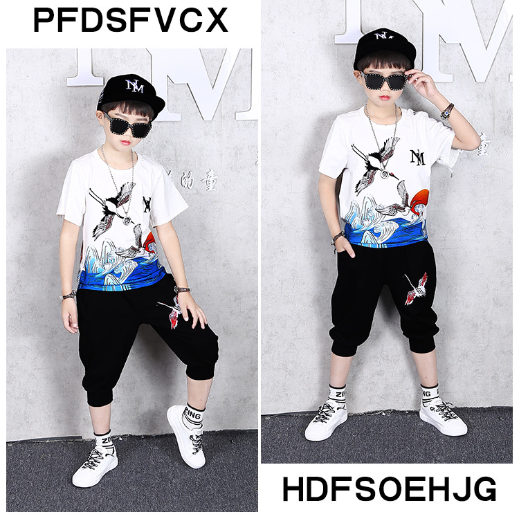 13547854132 825811997 - 2 Pcs Children Summer Clothes Set Boys T shirt + Pants Casual Sports Suits 6 8 10 12 13 14 Years Kids Clothing Casual Tracksuit