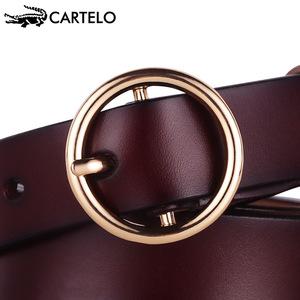 ខ្សែក្រវ៉ាត់នារី Women Casual Wild Pin Buckle Net Red Tide Belt PZ327960