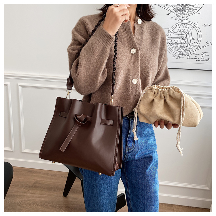 new trendy simple leather messenger bag NHJZ284153