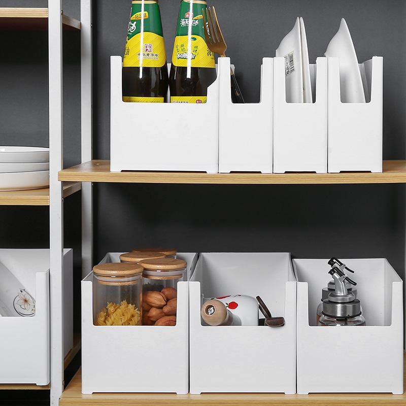 厨房塑料橱柜收纳盒 碗筷储物盒调料架锅具整理储物盒厨具收纳箱