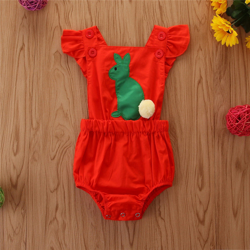 Cross border baby clothing onepiece 2020 summer new cute baby rabbit Romper baby triangle Romper
