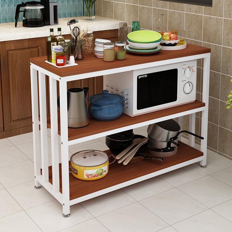 简约厨房置物架落地式家用置物架多层调料架调味架收纳架烤箱架