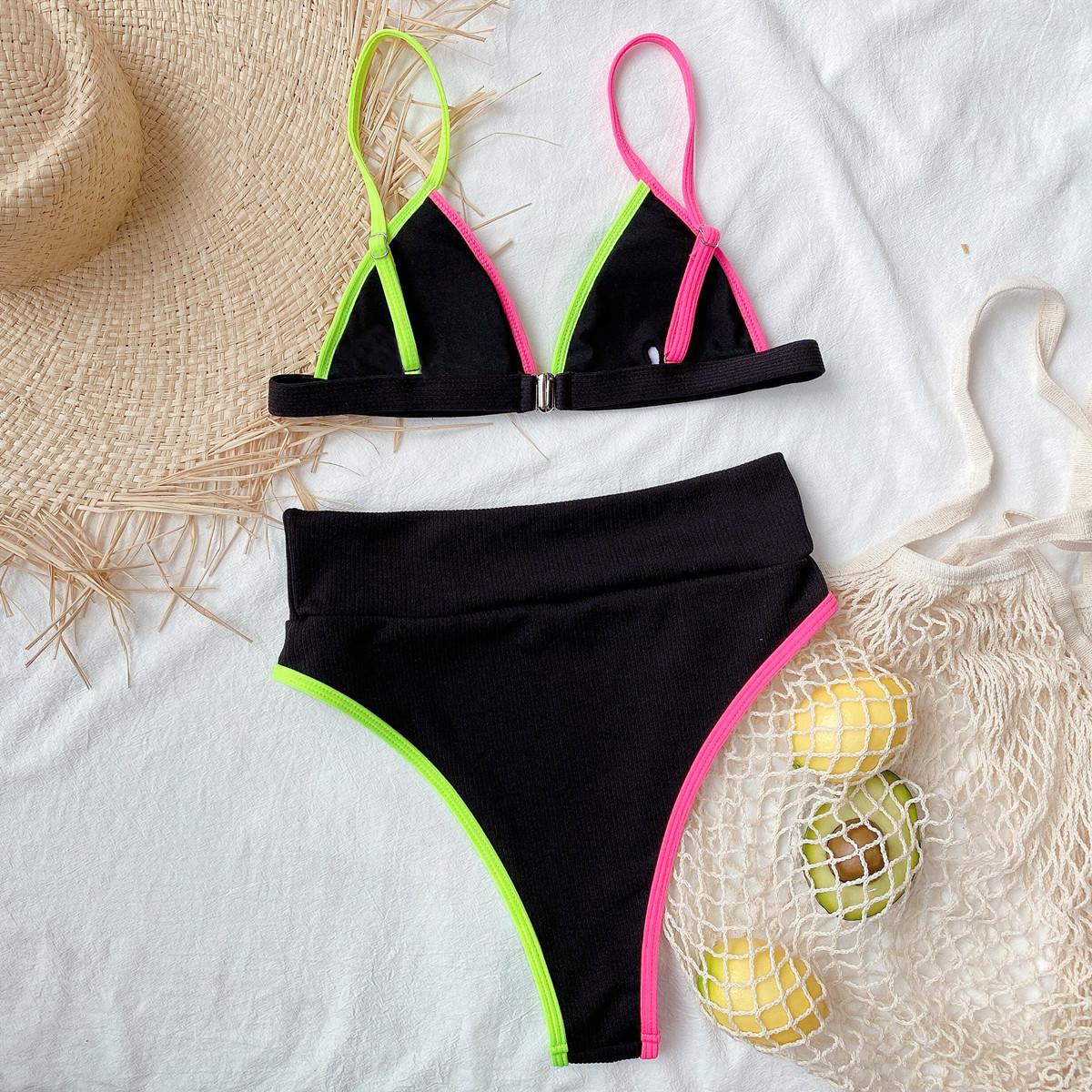 Outer Single Split Swimsuit Bikini   NSDA2606