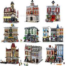 王将牌街景积木伦敦桥大本钟侦探社转角咖啡厅集会广场拼装玩具