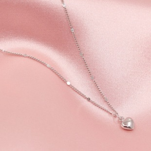 【Pauline】s925 sterling silver Japanese sweet love necklace female exquisite new European and American clavicle chain
