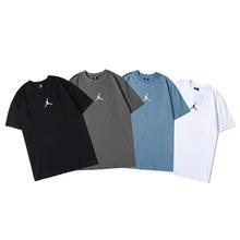 廠家直銷高品質2020夏季新款飛人喬男女圓領純棉休閑運動短袖T恤