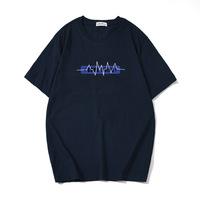 Весна и лето 2020, новая мужская футболка с короткими рукавами, свободный простой топ с буквенным принтом из чистого хлопка, футболка большого размера, мужская