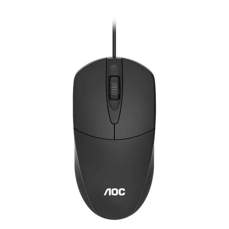AOC MS121 有线USB鼠标 家用办公商务笔记本台式机电脑鼠标
