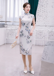 Chinese Dresses Qipao for women robe chinoise cheongsam Long cheongsam skirt sexy cheongsam dress single layer