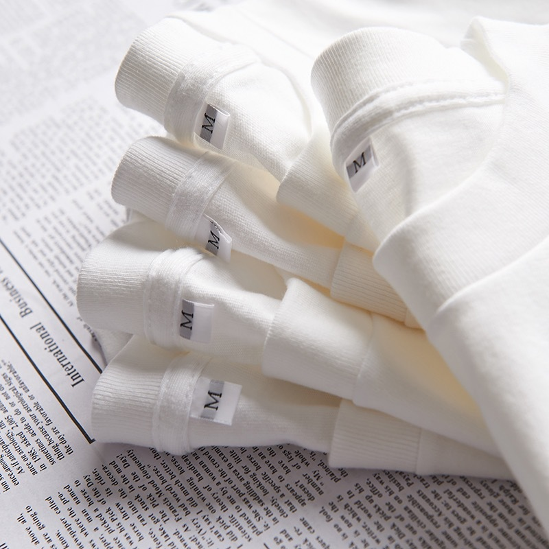 230g日本重磅纯棉短袖t恤男女纯色白色男士空白衫潮牌ins批发货源