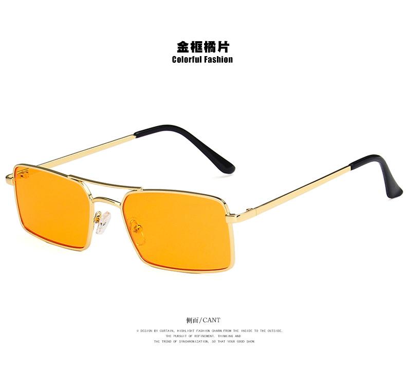 fashion simple new  double beam square metal sunglasses  new  trend sunglasses personalized sunglasses nihaojewelry wholesale NHKD222808