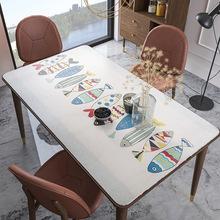 北欧桌垫桌布免洗软玻璃PVC防烫长方形塑料茶几垫餐桌垫