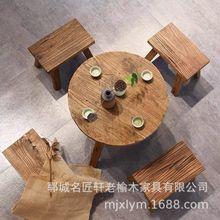 實木舊門板 老榆木門板榆木板材吧臺桌面風化木板加工定制