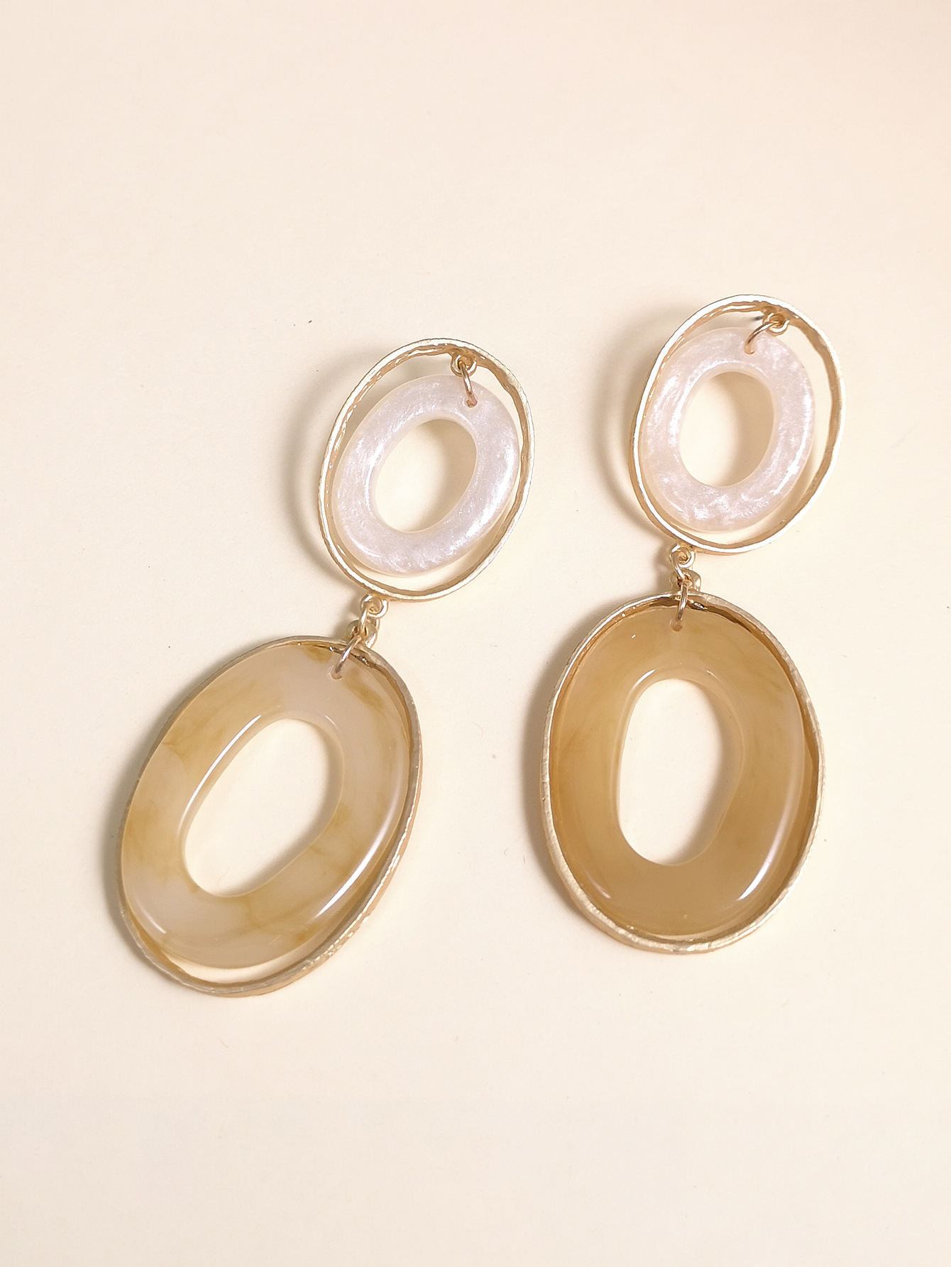 fashion new big brand exaggerated style earrings  oval geometric earrings wholesale  NHUI221132