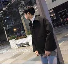 毛呢外套冬季男秋季短款休闲百搭呢子学生中青年韩版ins潮流夹克