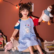 2020新款兒童睡衣純棉印花中大童空調服夏天短袖家居服套裝