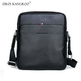 Factory source men's first layer cowhide shoulder bag waterproof and wear-resistant fashion large-capacity business leather men's messenger bag