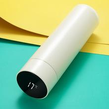 简约智能316真空不锈钢保温杯创意LED显示温度水杯礼品定制logo