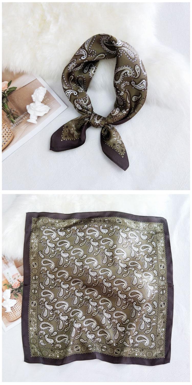 mulberry silk korean wave dot small square scarf  NHMN269309