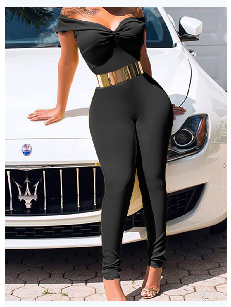 women's solid color tube top jumpsuit nihaostyles clothing wholesale NSLAI76363