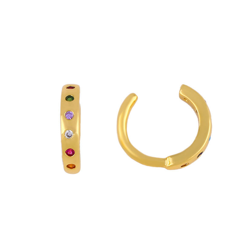 Women's ear clips without earrings simple and compact C-shaped earrings women NHAS205240