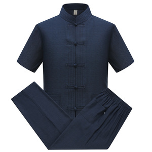 Chinese Tang style tops for men nationality clothing Chong men long sleeve shirt men suit