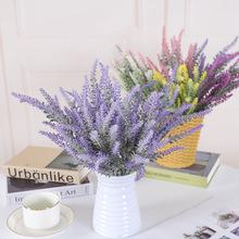 仿真花摆件仿真植物北欧植绒薰衣草盆栽塑料花假花束植物家居装饰