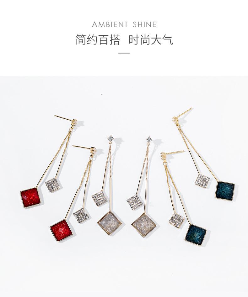 Fall/Winter 925 Silver Needle Fashion Long Pendant Exaggerated Creative Earrings NHPP266650