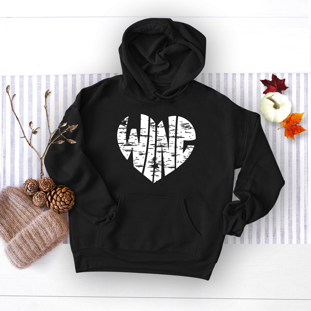 winter womens popular letter printed hooded sweater NHSN278683