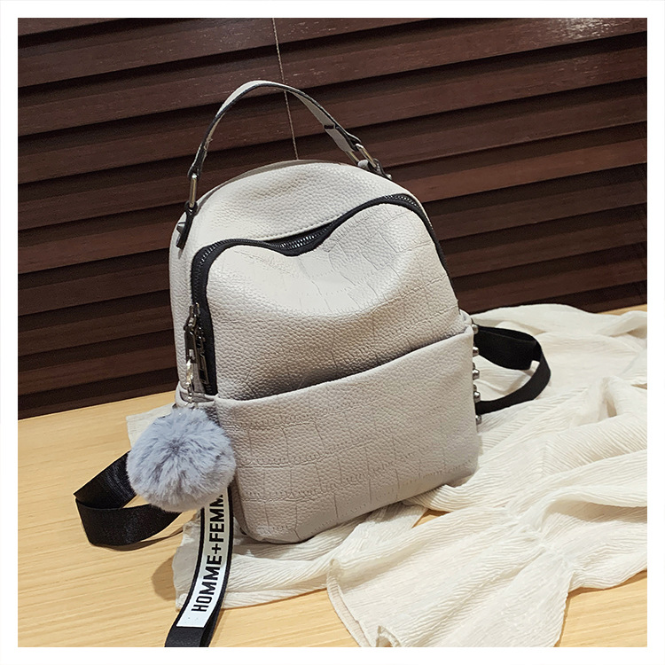 Bags for Women New Korean Stone Pattern cheap Student Backpack Broadband Backpack Trendy NHTC202257