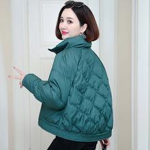 羽絨棉服女短款輕薄立領小棉襖2020新款休閑媽媽棉衣冬季厚外套女