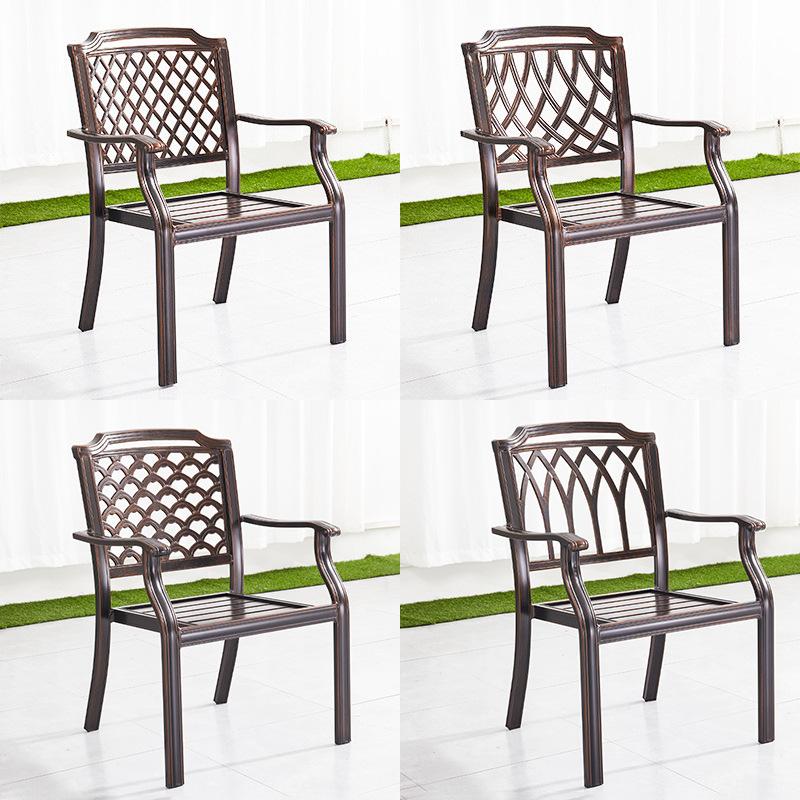 户外铸铝桌椅庭院别墅阳台休闲桌椅家具室外欧式餐饮咖啡店餐桌椅