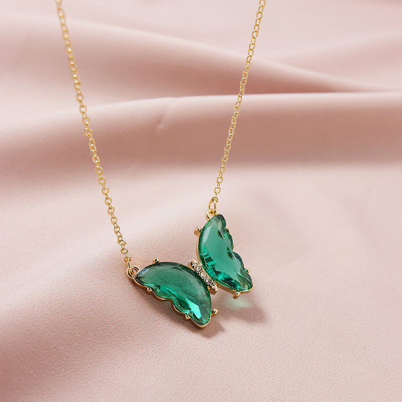 Hot selling  Fashion Jewelry Butterfly Pendant women's Necklace  NHGU251989