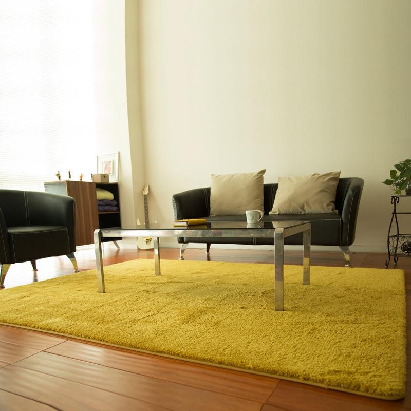 日系简约纯色丝毛满铺卧室客厅地毯地垫沙发脚垫床边地毯可定制