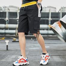 五分短裤男薄款夏季宽松大码男士休闲工装裤潮牌纯棉沙滩中裤男装