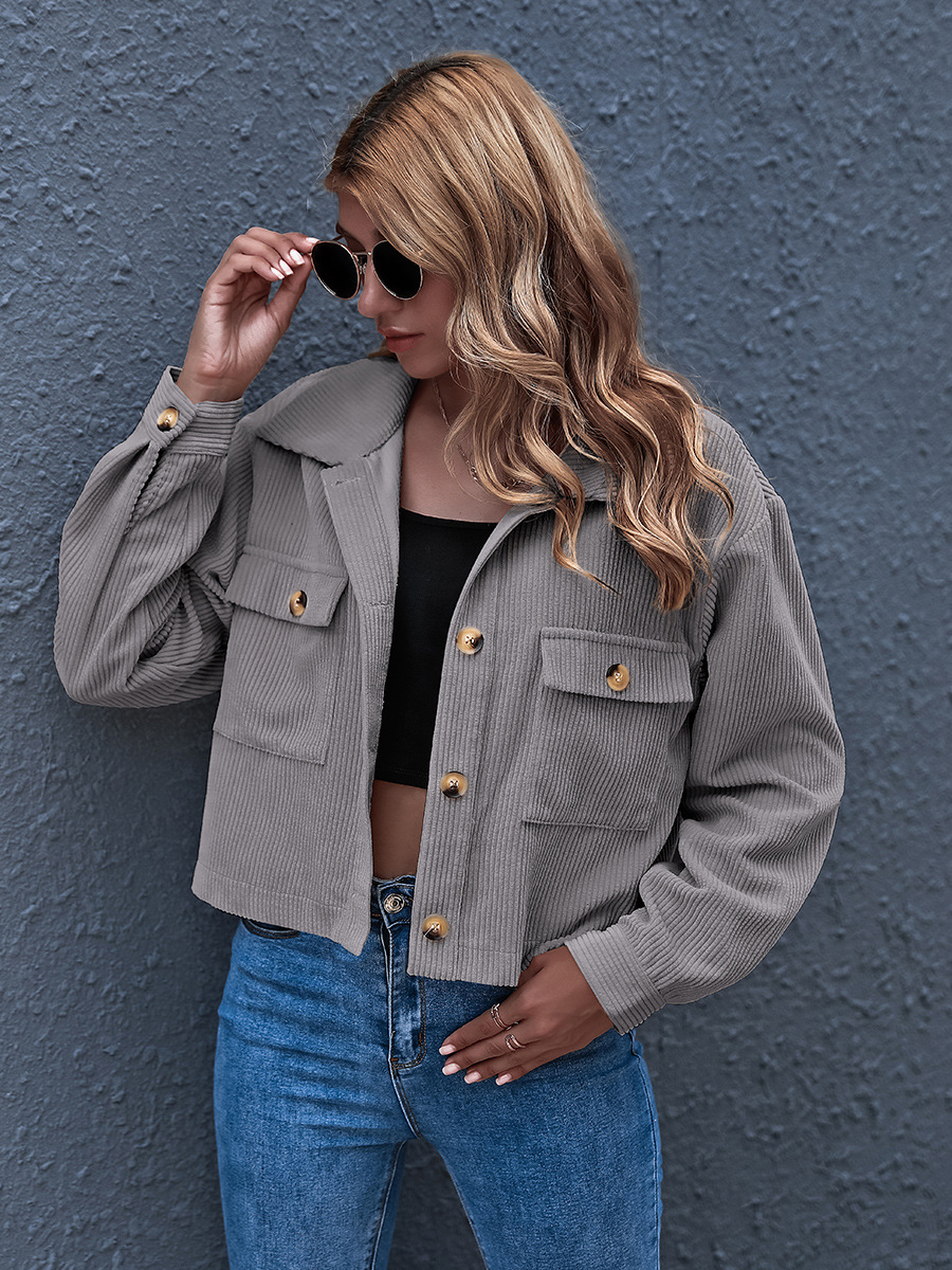 Hot Sale Autumn/Winter New Fashion Corduroy Shirt Jacket  NSAL1937