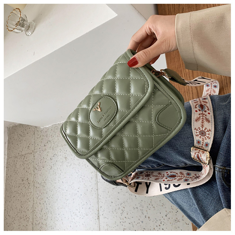 New Bag Lingge Fashion Wide Shoulder Strap Messenger Bag Women Shoulder Bag NHTC205660