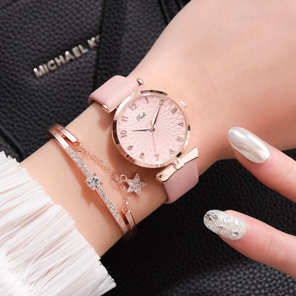 Fashion belt quartz watch bracelet set  NHSS369243